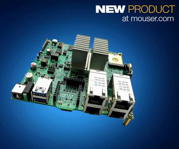 贸泽开售面向强大边缘计算应用的NXP Layerscape LS1046A Freeway评估板