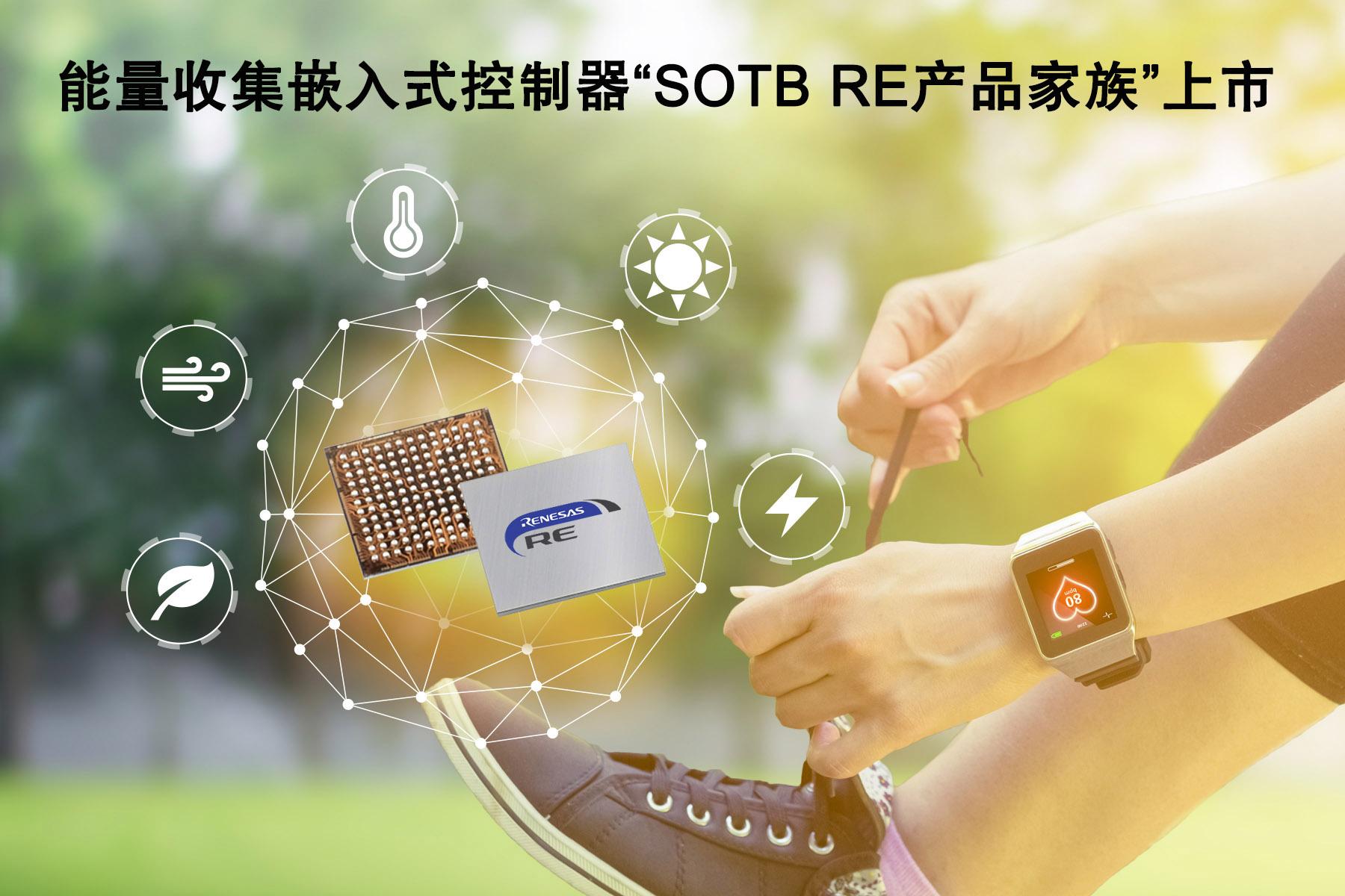 瑞萨电子整合其基于SOTB?制程工艺的能量收集嵌入式控制器产品,推出全新命名的RE产品家族