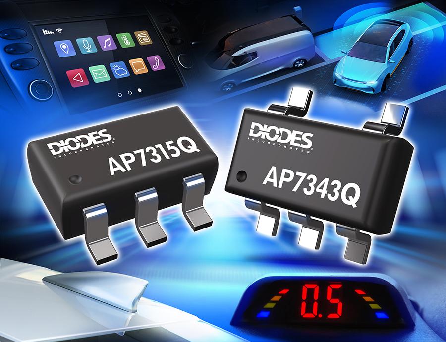 Diodes Incorporated 符合汽车规格之线性稳压器可提供高 PSRR 及低静态电流