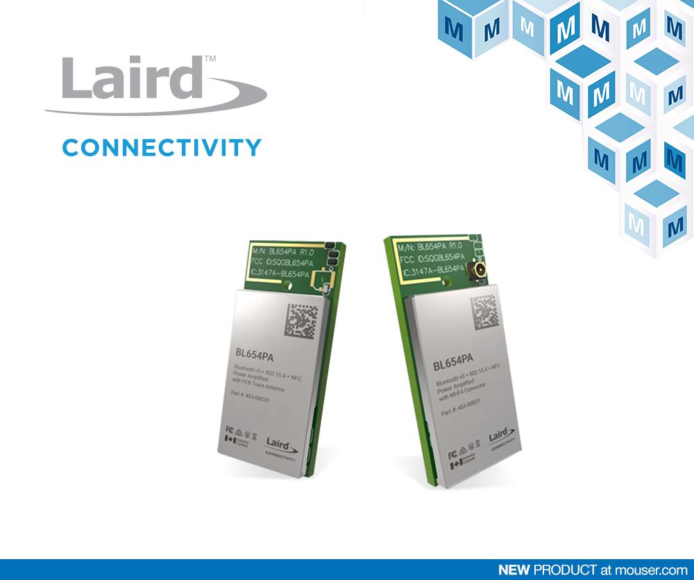 面向蓝牙5和Thread实现的Laird BL654PA模块在贸泽开售