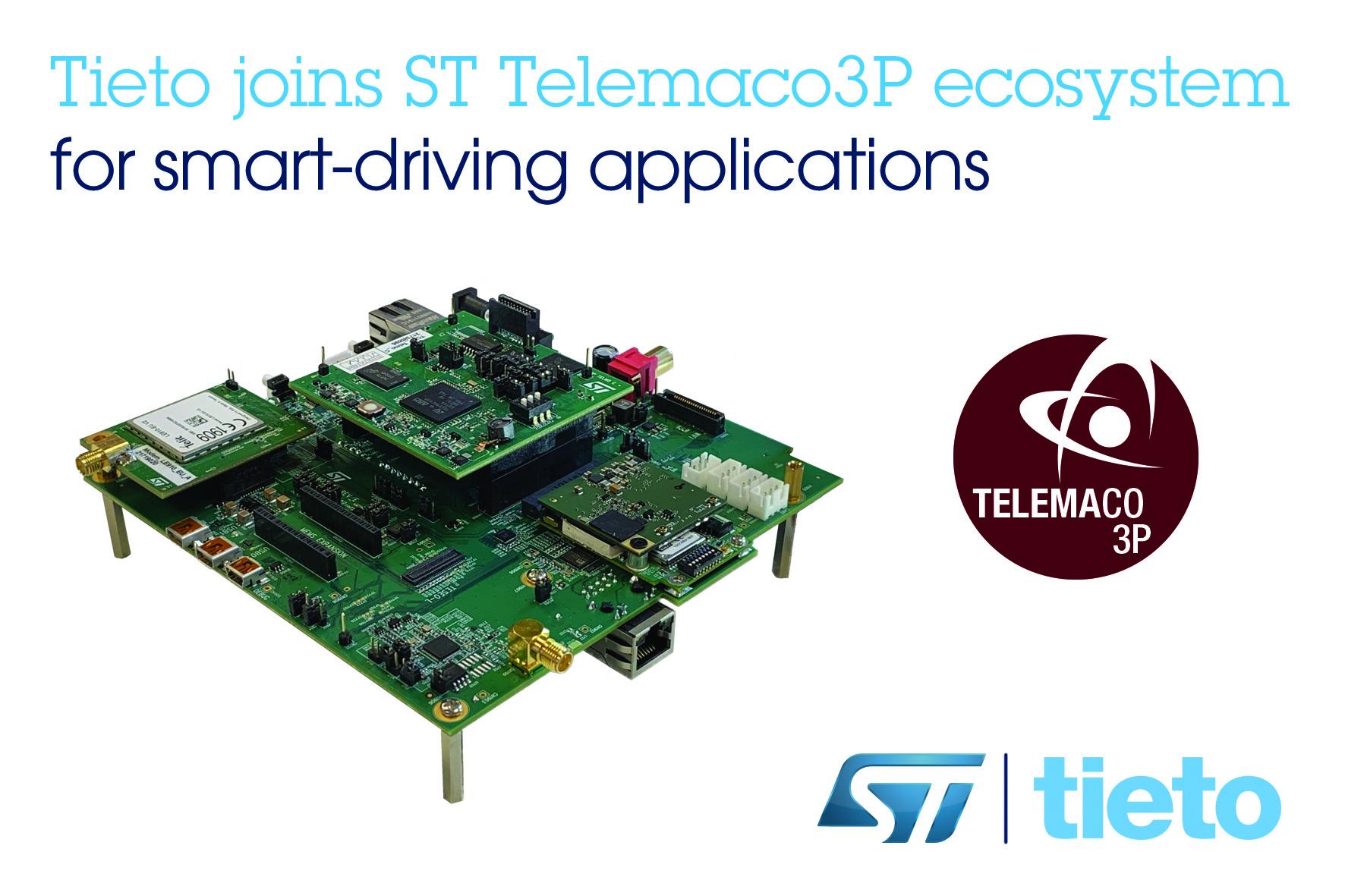 Tieto和意法半導體攜手合作,加快汽車中控制單元開發周期,提高駕乘安全性和數據安全性