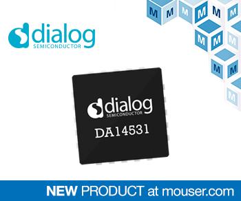貿澤電子備貨Dialog超小型DA14531 SmartBond TINY SoC適用于一次性醫療用品