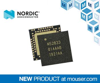 贸泽电子备货Nordic nRF52833多协议SoC